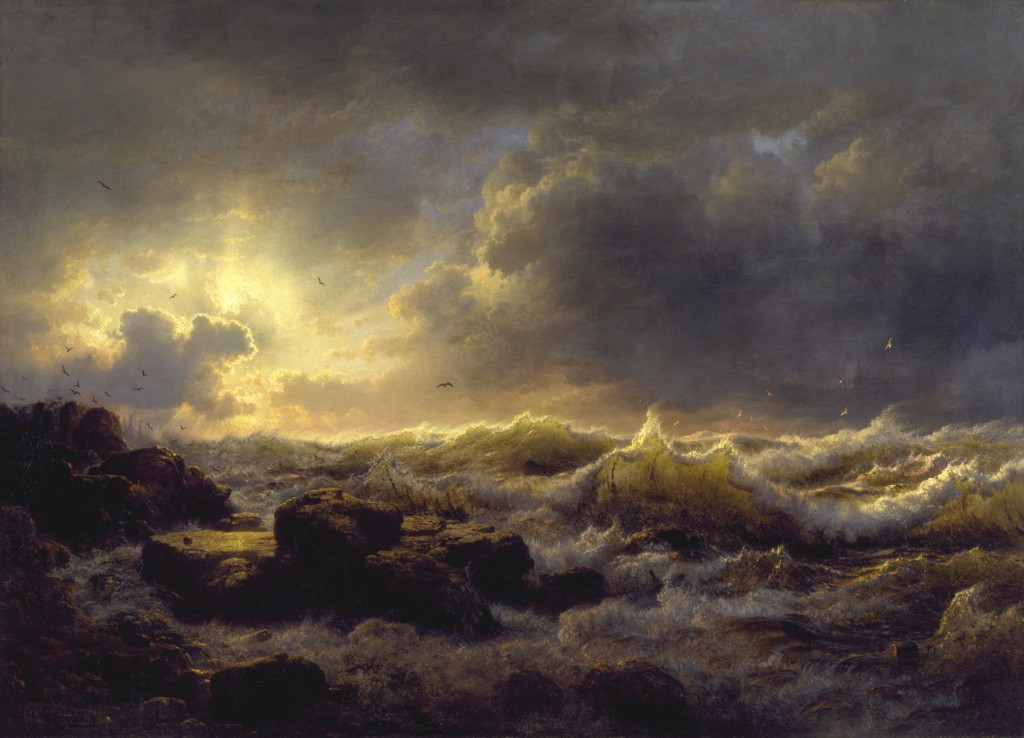 Andreas Achenbach - Clearing Up - Coast of Sicily