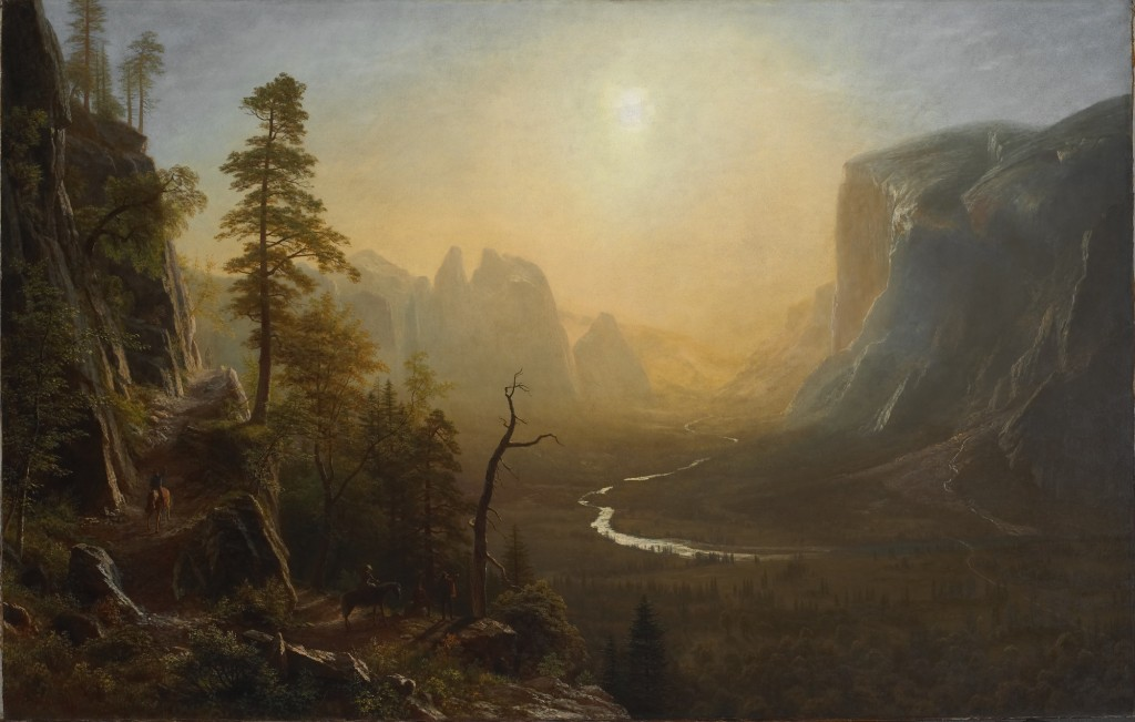 Albert Bierstadt - Yosemite Valley Glacier Point Trail