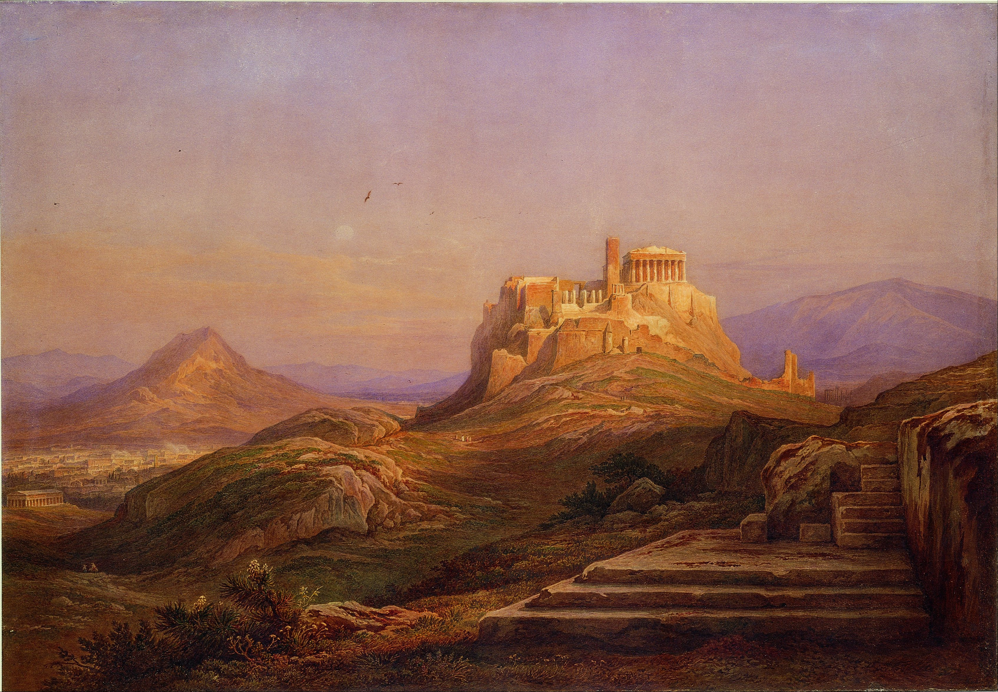 Rudolf Müller - View of the Acropolis from the Pnyx